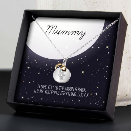 Moon & Stars Sterling Silver Necklace